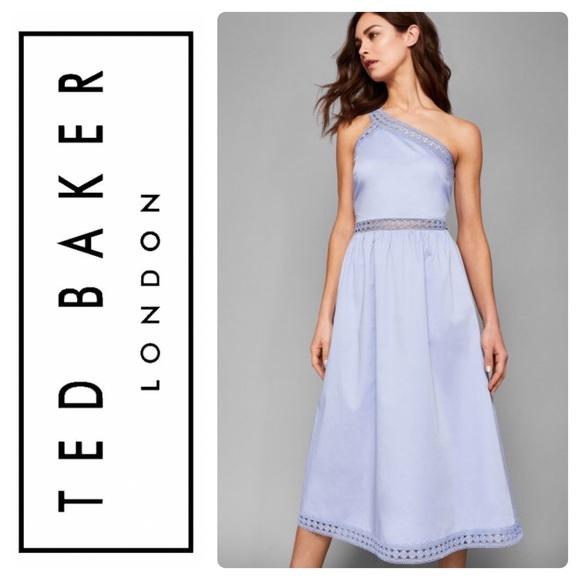 Ted Baker Dresses & Skirts - New Ted Baker KALLII Asymmetric Cotton Dress Blue